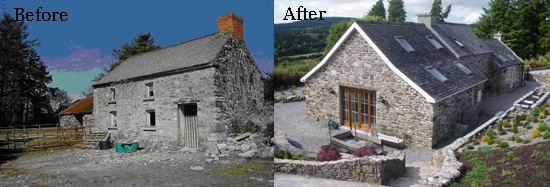 The Old Farm Cottage - Before & After Pictures