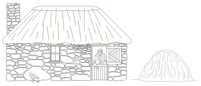 80 irish cottage drawing rural irish cottage drawing by for Traditional irish cottage plans