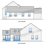 Fushia Cottage - Elevations | Irish Cottage Plans