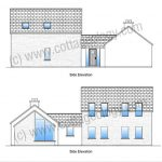 Fushia Cottage – Side Elevations | Irish Cottage Plans