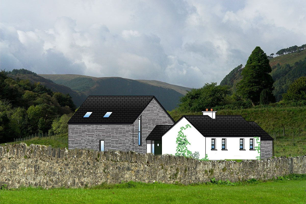 Fushia cottage plans cottageology irish cottages culture for Modern cottage house plans ireland