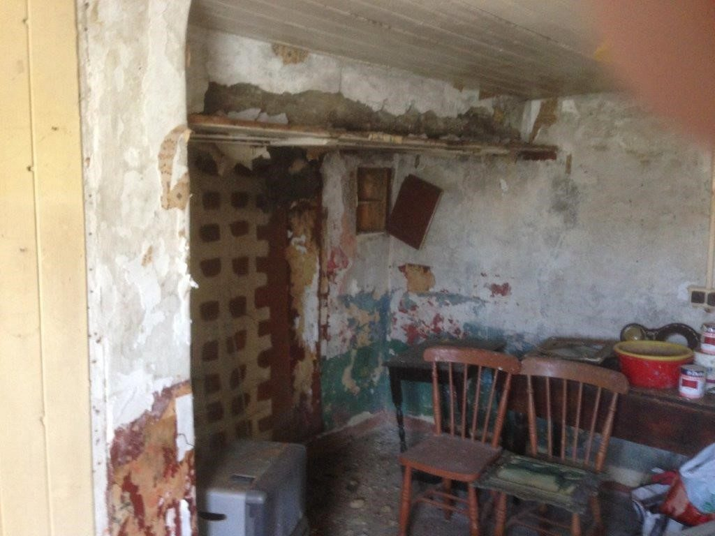 INTERNAL KITCHEN FIREPLACE BEFORE WORKS - Cottageology - Irish Cottages & Culture
