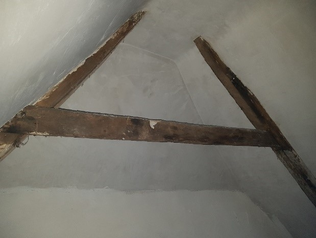 Limewashed Interior Showing Revealed Timber Structure