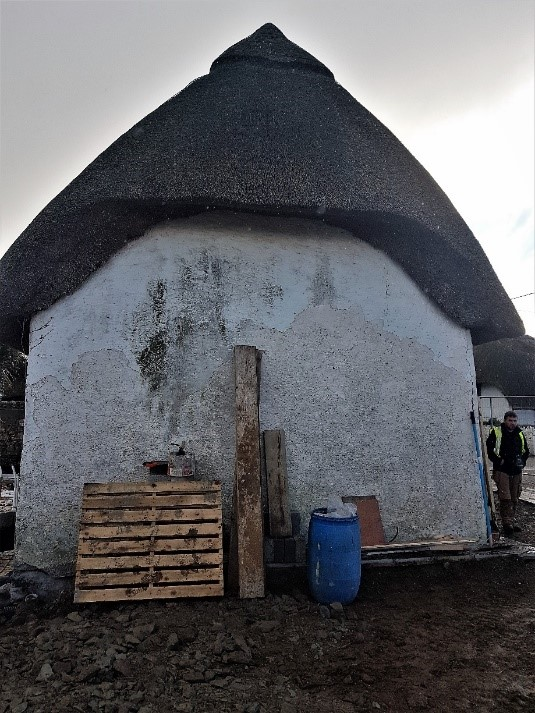 Side Gable With New Thatch