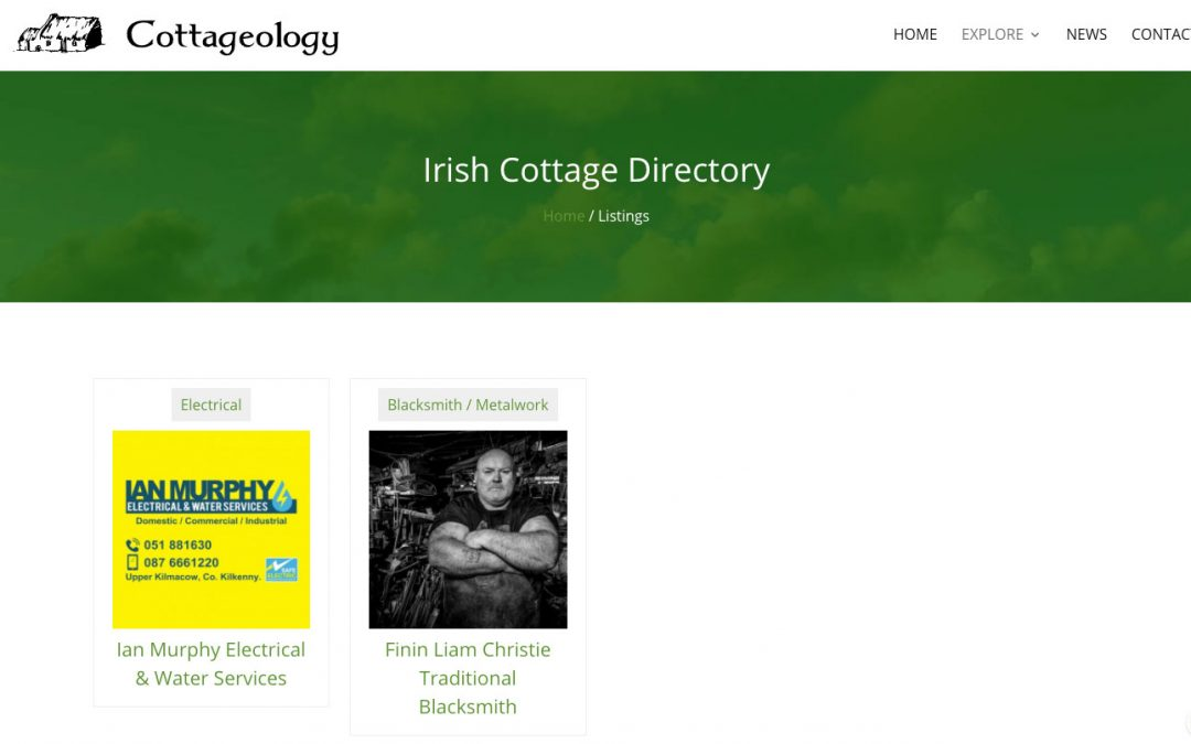 Brand new Trades and Suppliers Directory for Cottage Owners